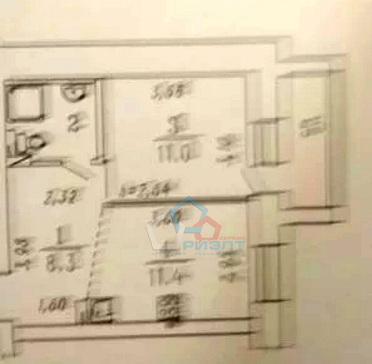 Квартира на продажу по адресу Россия, Омская область, Омск, Комарова пр-кт, 16